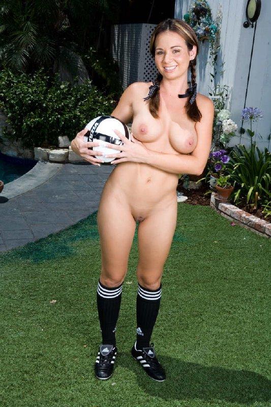 Colegiala desnuda futbolista