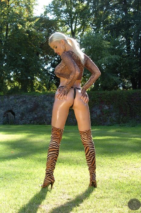 Kathy LEE ActionGIRLS Cheetah 11 Busty EURO Blonde 2006 BRTC