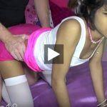 Nena Asiatica teniendo Sexo con su casero pagar el alquiler