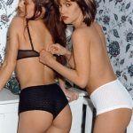 Las lesbianas Nicole y Monica