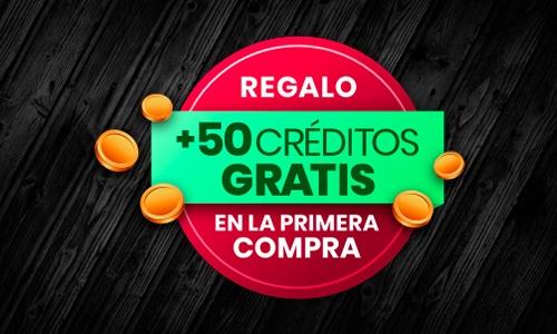 50 Cretidos Gratis